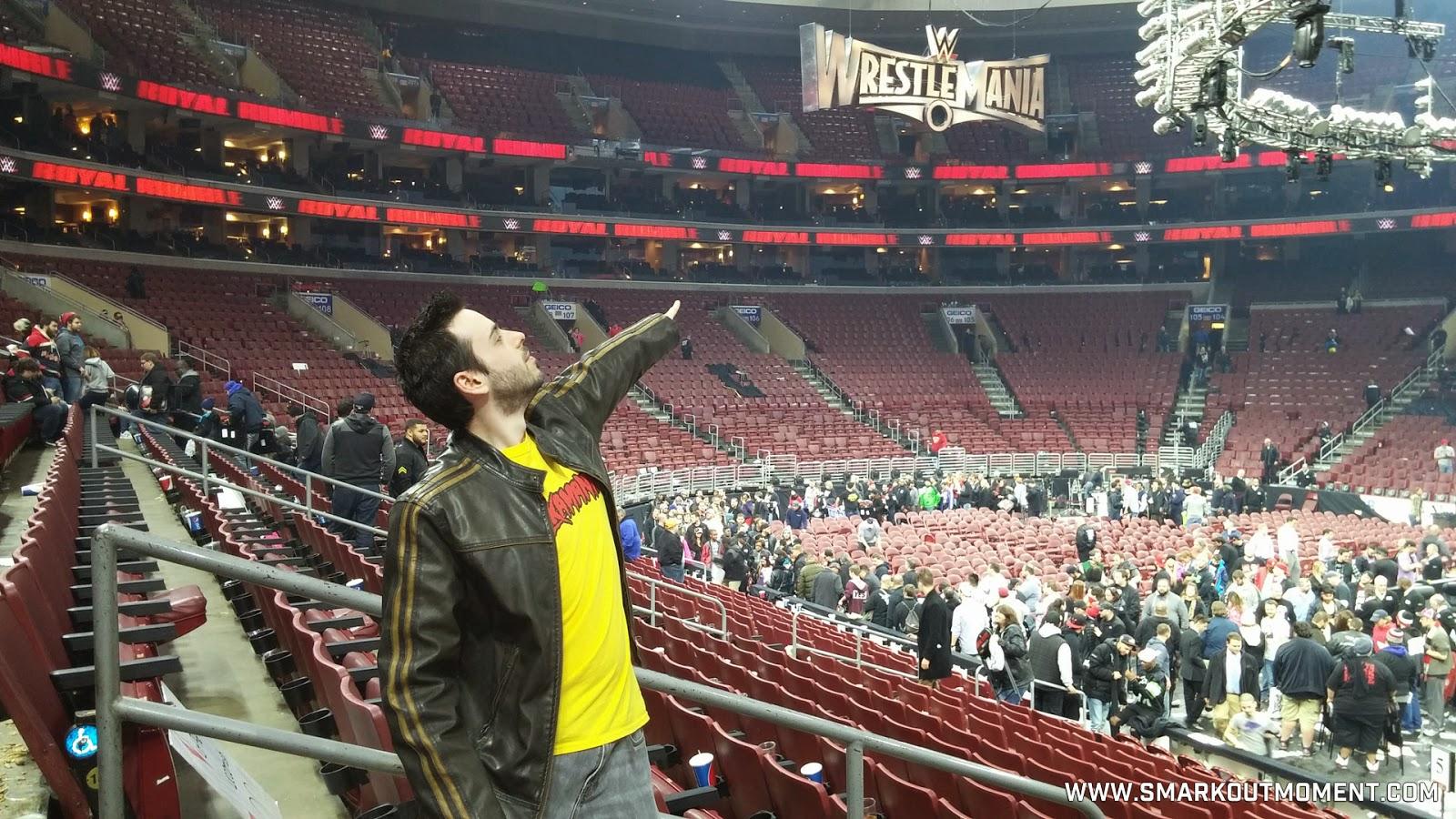 WWE Royal Rumble 2015 pyro WrestleMania sign