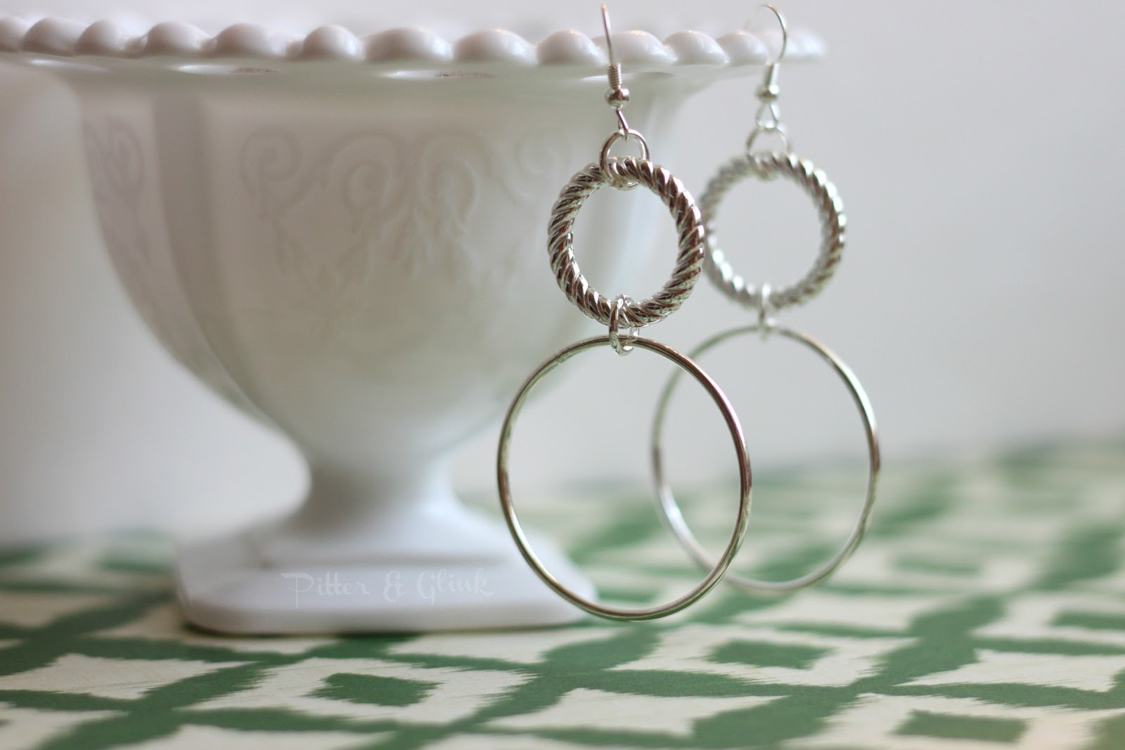 PitterAndGlink: {Simple, DIY Silver Earrings}