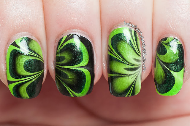 halloween nail art watermarble ulta3 china glaze polish