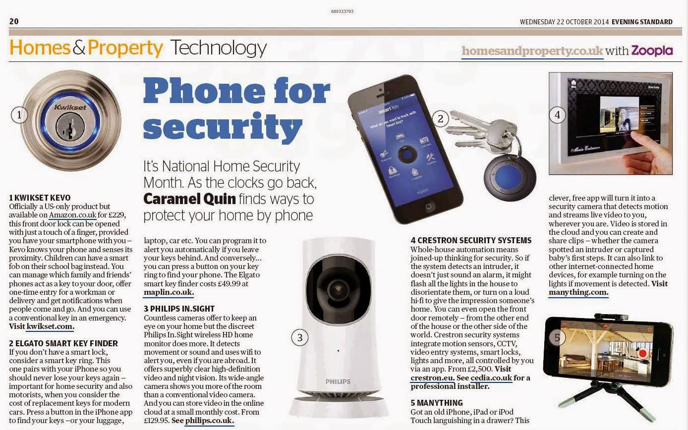 Caramel Quin Writer Editor Evening Standard Home Security