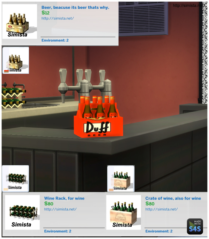 My sims 4 blog bar drinks deco by mr s for Deco appartement sims 4