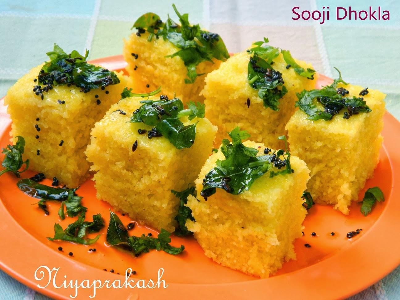 Niya S World Sooji Dhokla Rava Dhokla
