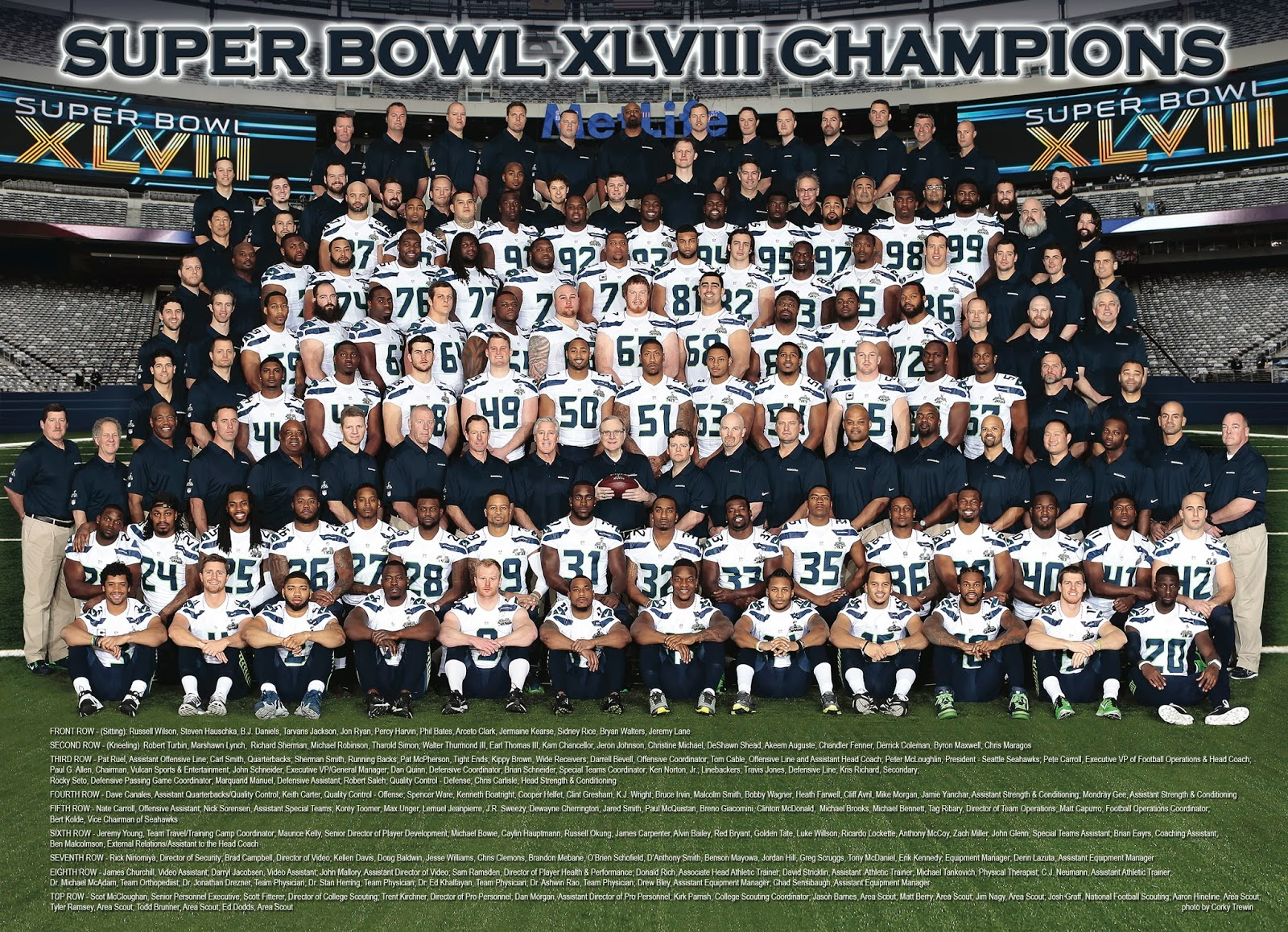 Seahawks team photo 2013
