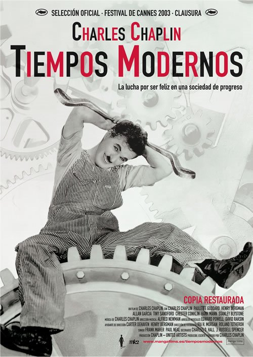Charles Chaplin – Tiempos Modernos (1936)
