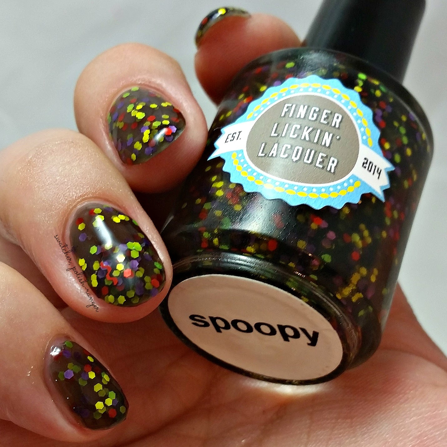 swatcher, polish-ranger | Finger Lickin Lacquer Spoopy swatch