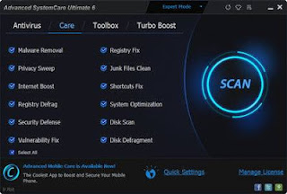 Advanced SystemCare Ultimate 6 is a powerful anti-virus and system optimization tool. Apart from protecting your PC from malware, viruses and similar threats, it can also boost your PC's performance by applying various registry and shortcut fixes, removing junk files