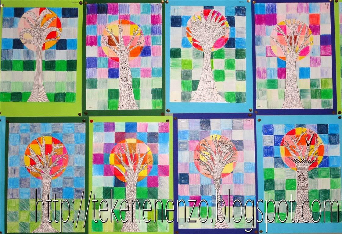 Tekenen en zo blokkenboom - Koude en warme kleuren ...