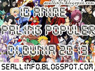 Info Menarik | 10 Anime Paling Populer di Dunia 2013