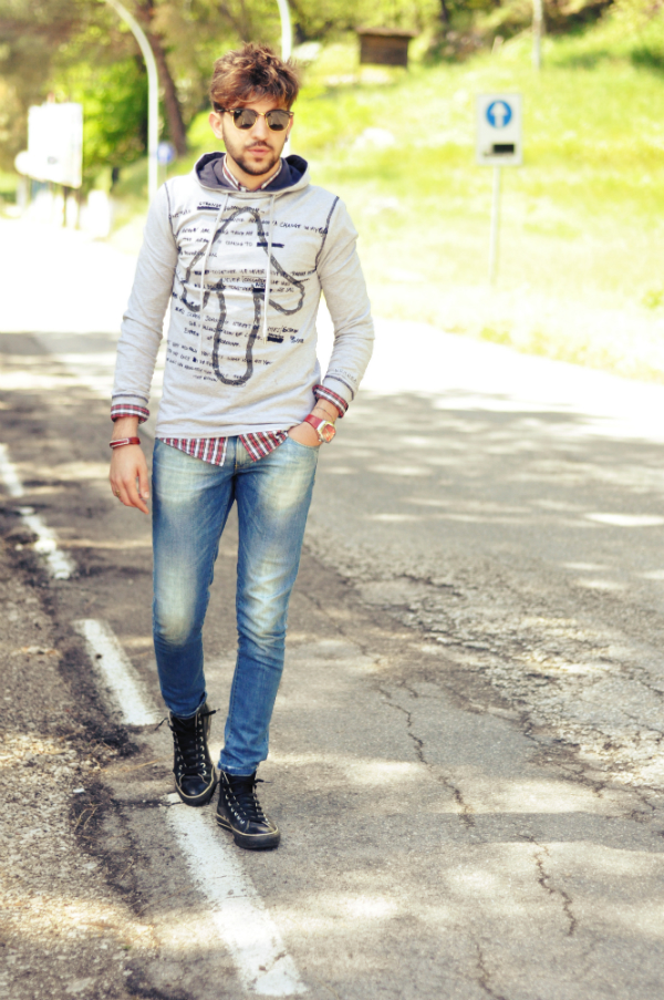 outfit converse nere uomo