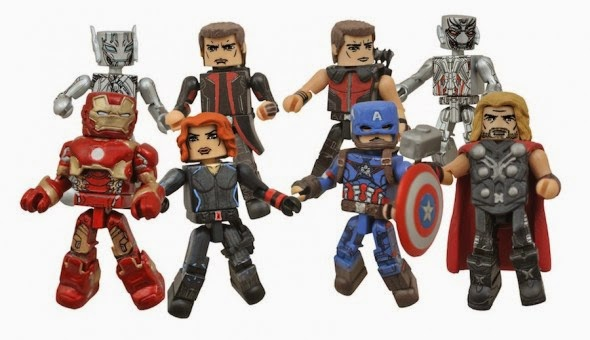Avengers: Age of Ultron Marvel Movie Minimates Series 1 - Iron Man, Black Widow, Thor, Captain America, Hawkeye, Ultron, Long Coat Hawkeye & Sub-Ultron