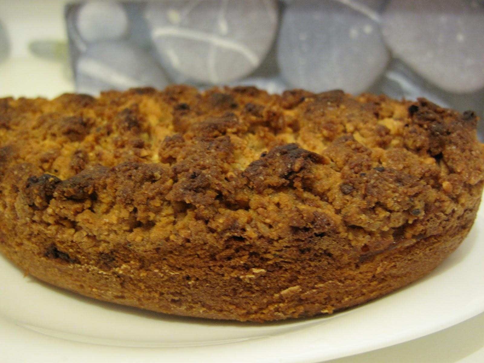 gourmandises homecooked dessert cake crumble aux pommes noisettes et chocolat