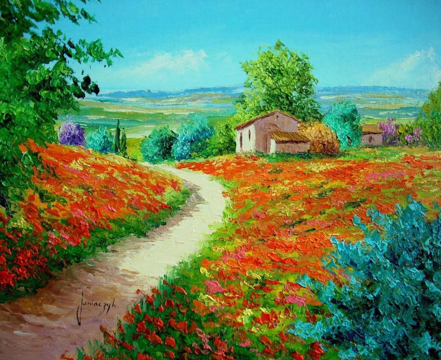 Cuadros pinturas oleos flores y paisajes con esp tula leo - Ver colores de pintura ...