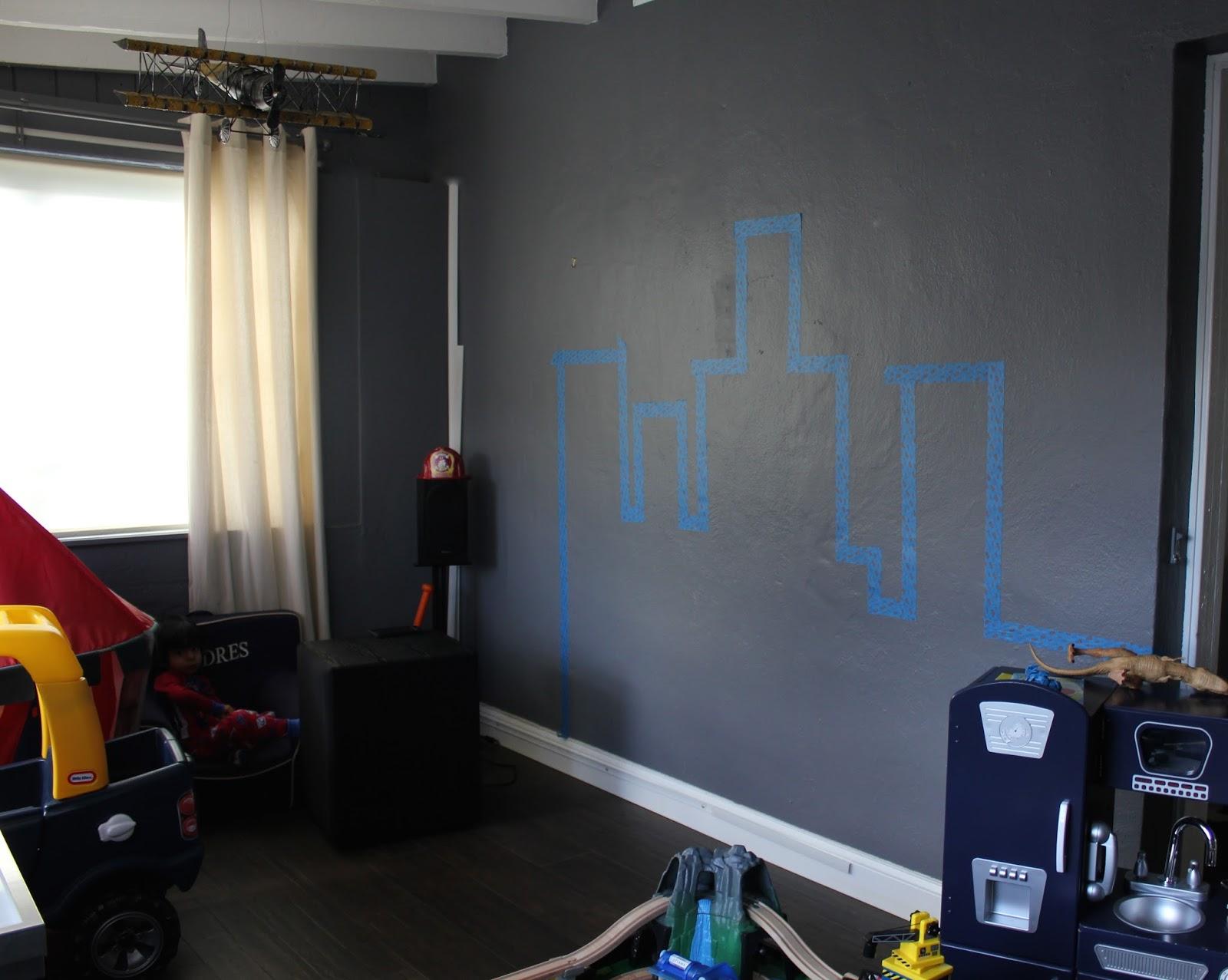 Home Decor Diy Chalkboard City Wall Viva Fashion