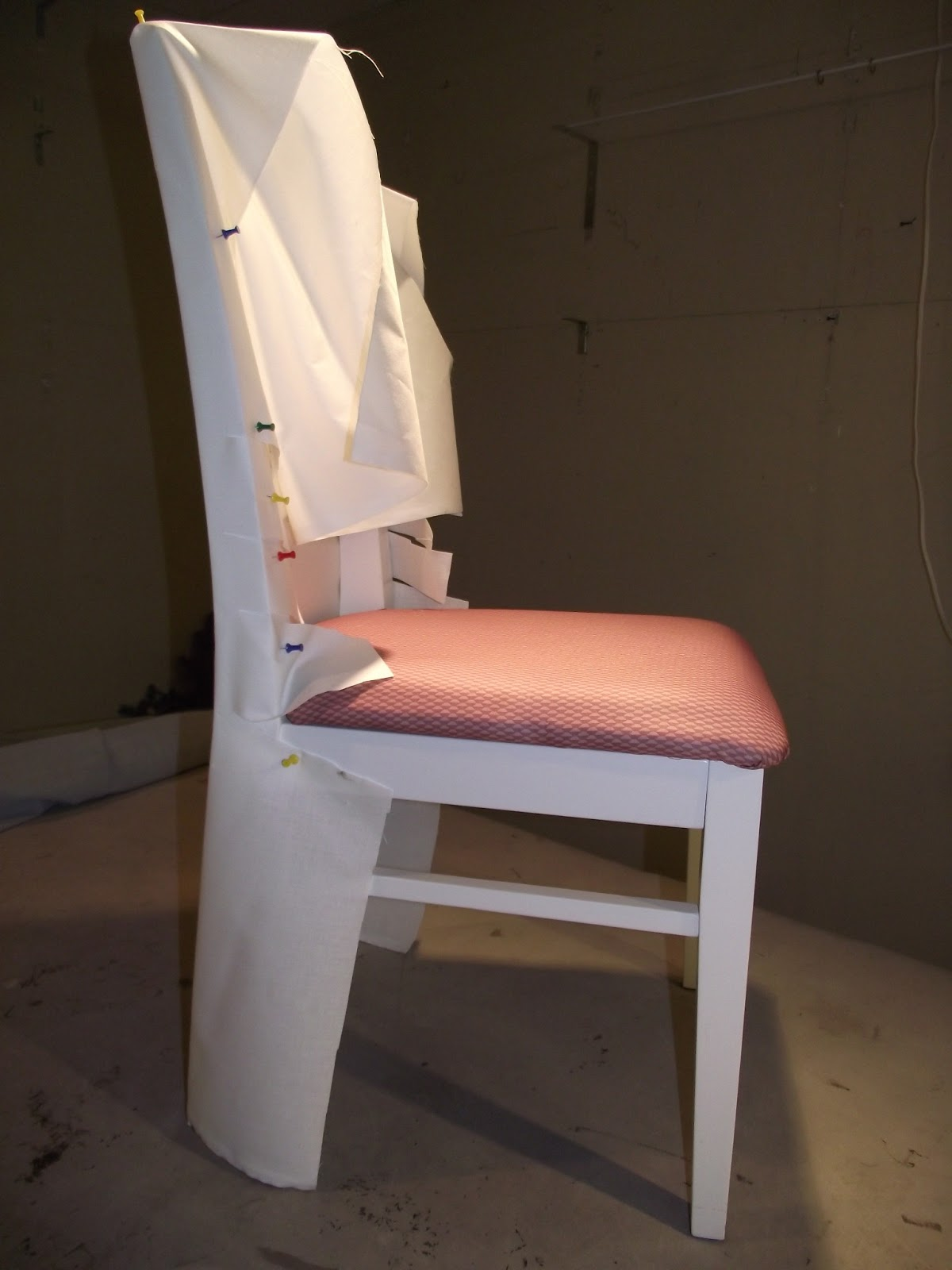 When The Chair Has A Wooden Back I Canu0027t Resist Using The Slipcover To Make  The Chair More Comfortable, So If Youu0027re Only Doing One Chair Save The  Lining ...