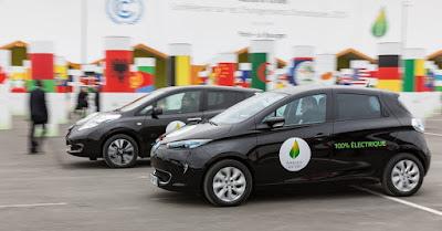 Ο στόλος ηλεκτρικών οχημάτων της Renault-Nissan κάλυψε 175 χιλ. χιλιόμετρα μηδενικών εκπομπών κατά τη διάρκεια της COP21
