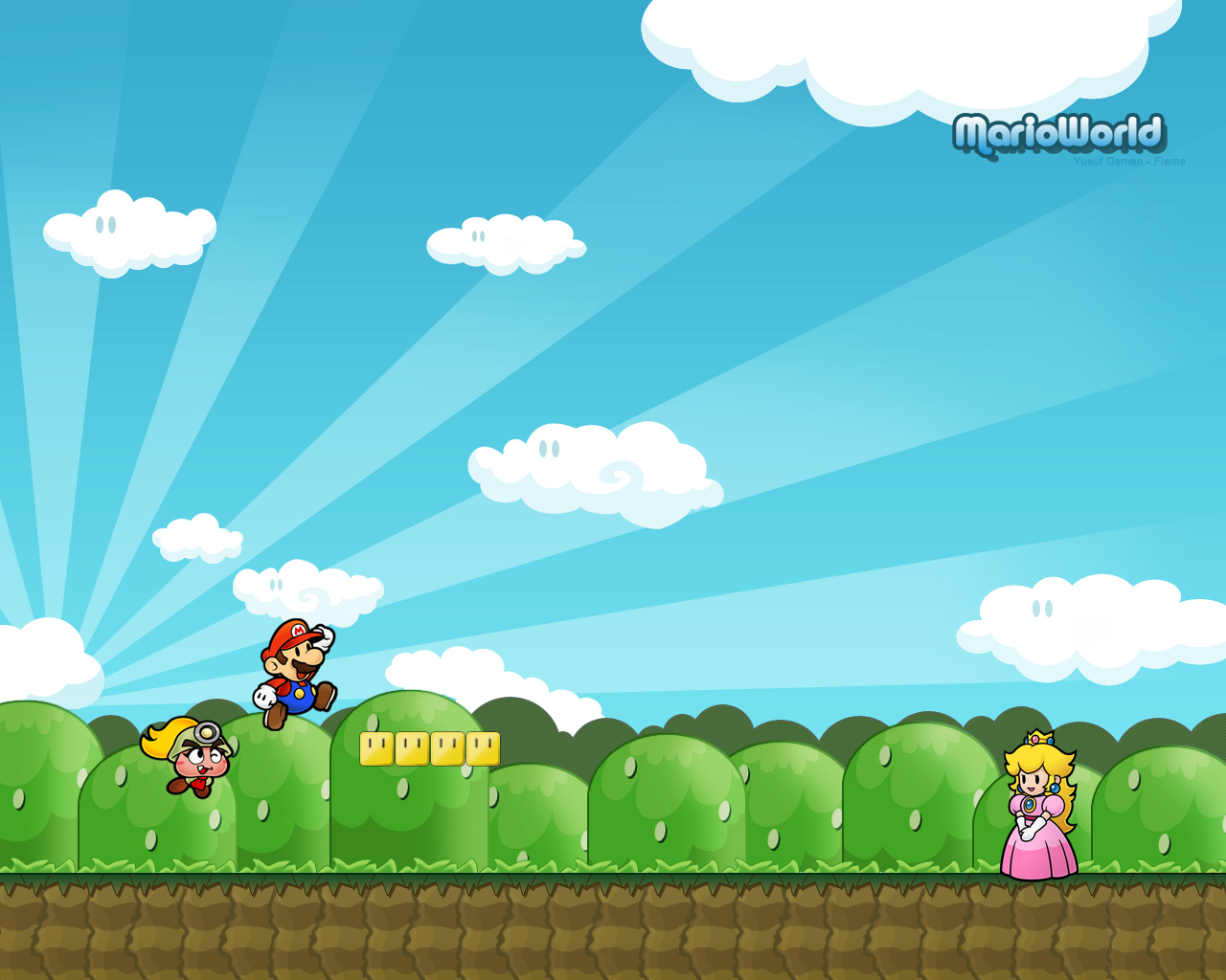 Super Mario HD & Widescreen Wallpaper 0.662717559152269