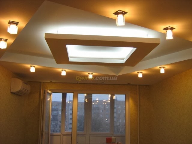 New Design Ceiling Lights : False ceiling designs with lighting for small rooms