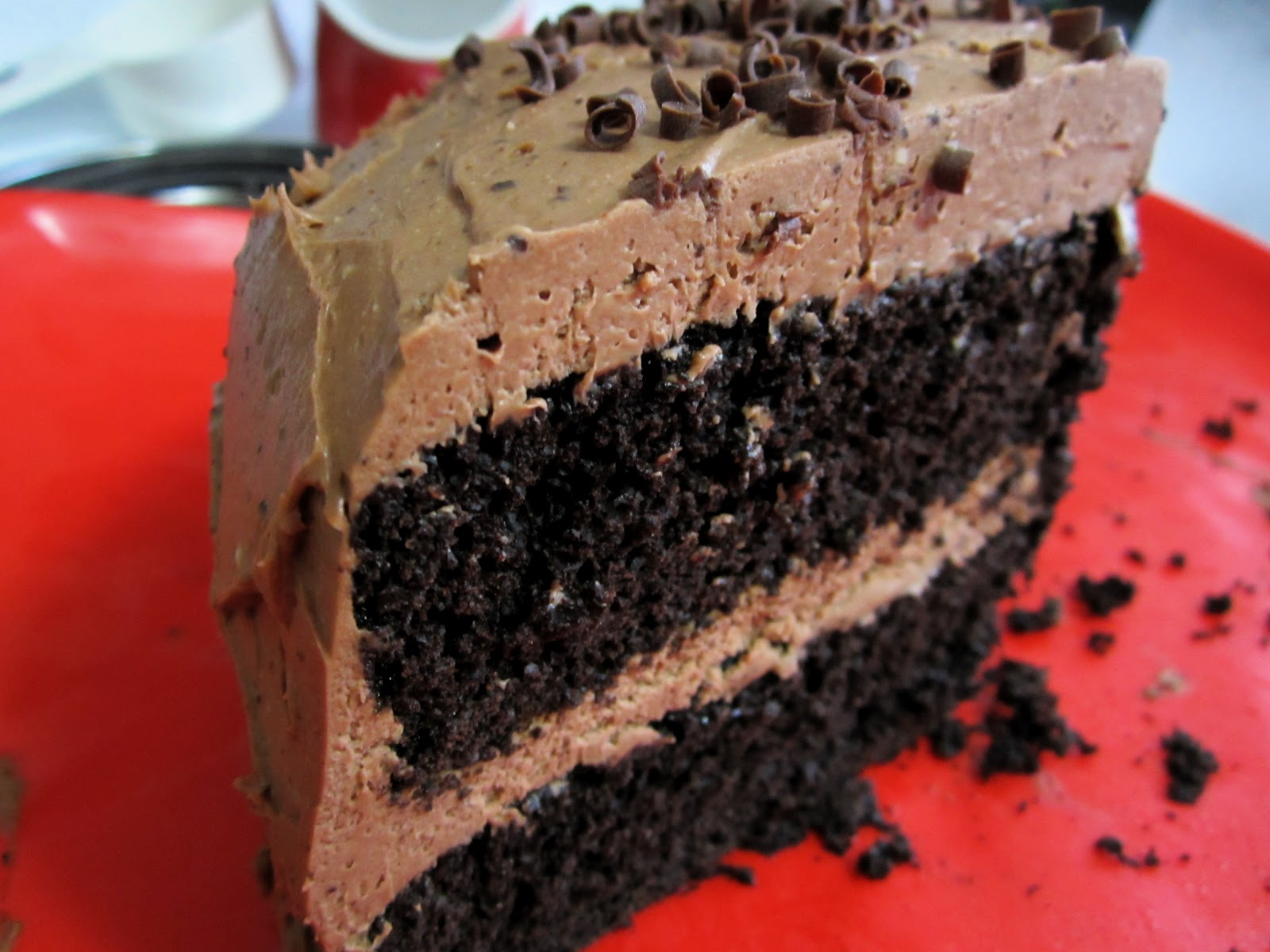 Recipes For Laughter: Mocha Layer Cake with Mocha Cream Cheese ...