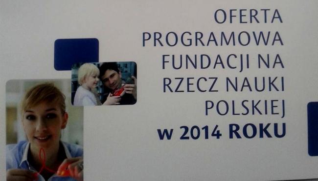 Fragment okładki oferty programowej FNP na 2014 r.