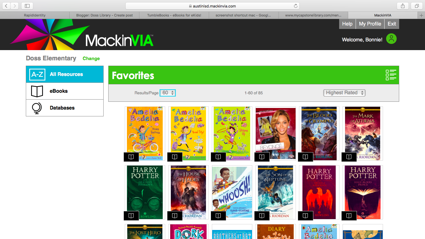 Our Newest Addition Is MackinVIA Which I Am Going To Refer As VIA This Virtual Library And Provides Users With Access Over 3300 Books