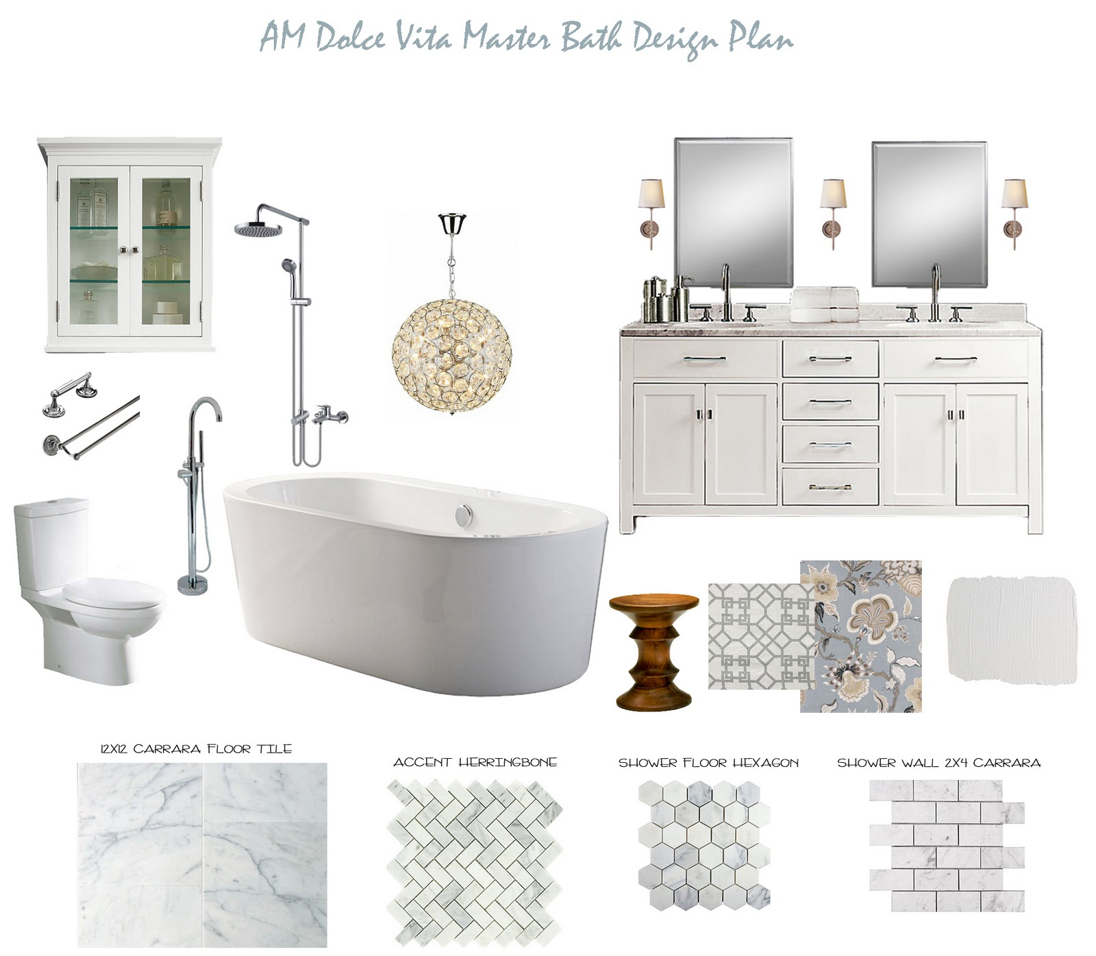 Am Dolce Vita Master Bath Design Plan