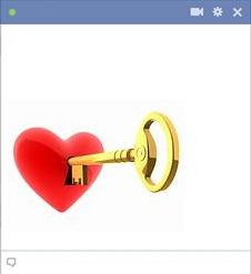Key unlocking the heart