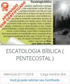 CURSO CONCLUÍDO SEM CERTIFICADO