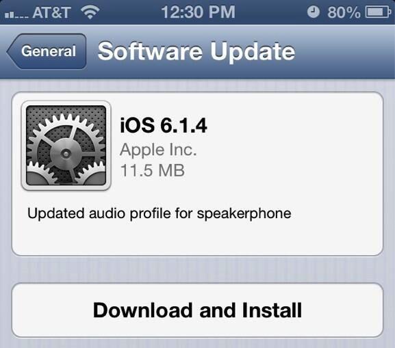 iOS Firmware 6.1.4