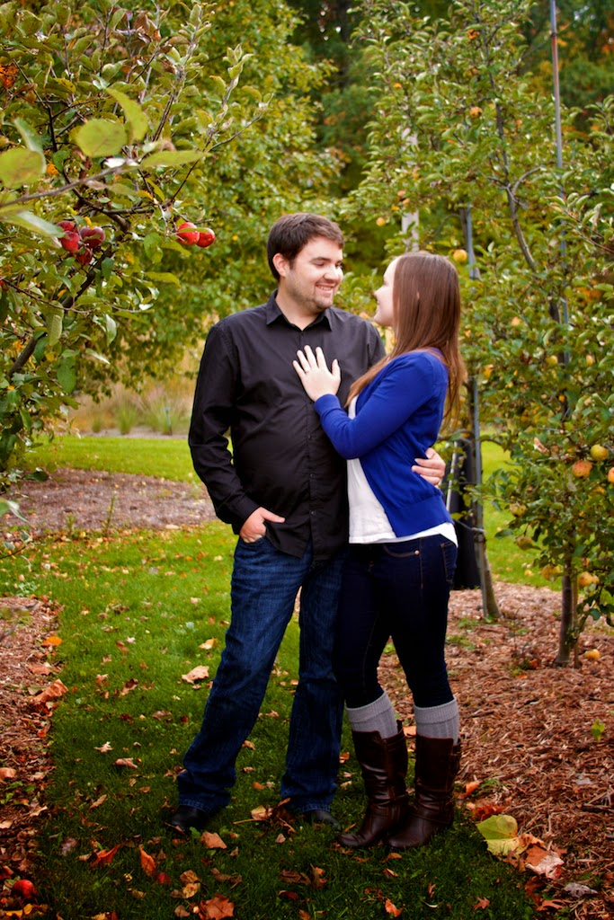 MSU Fall Garden Engagement Session, Lansing, MI
