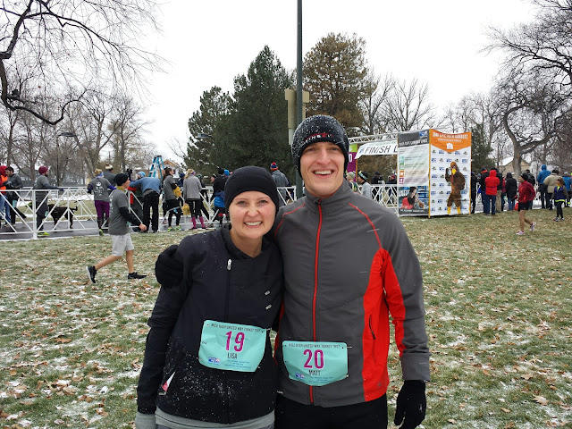 Early Morning Run _Mile High Turkey Trot Finish