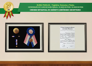 Trajetória, Honrarias e Títulos - Ordem Estadual do Mérito Jerônimo Monteiro