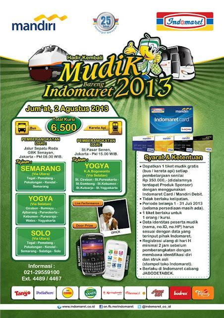 Mudik Gratis 2013 Bareng Indomaret