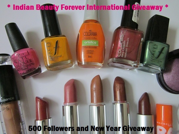 Indian Beauty Forever's International Giveaway