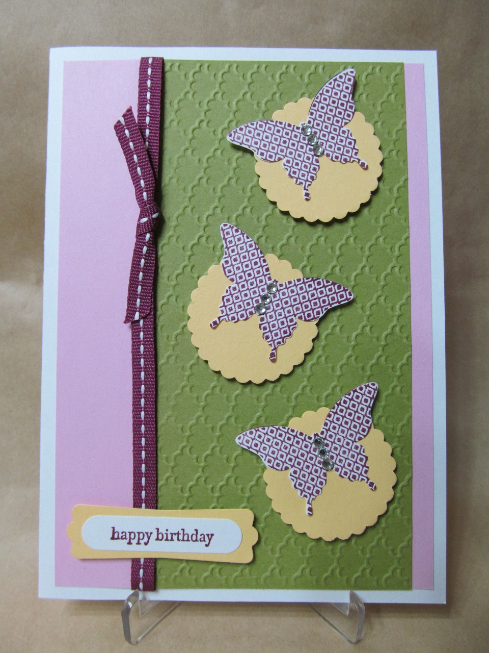 Savvy handmade cards elegant butterfly birthday card elegant butterfly birthday card kristyandbryce Images