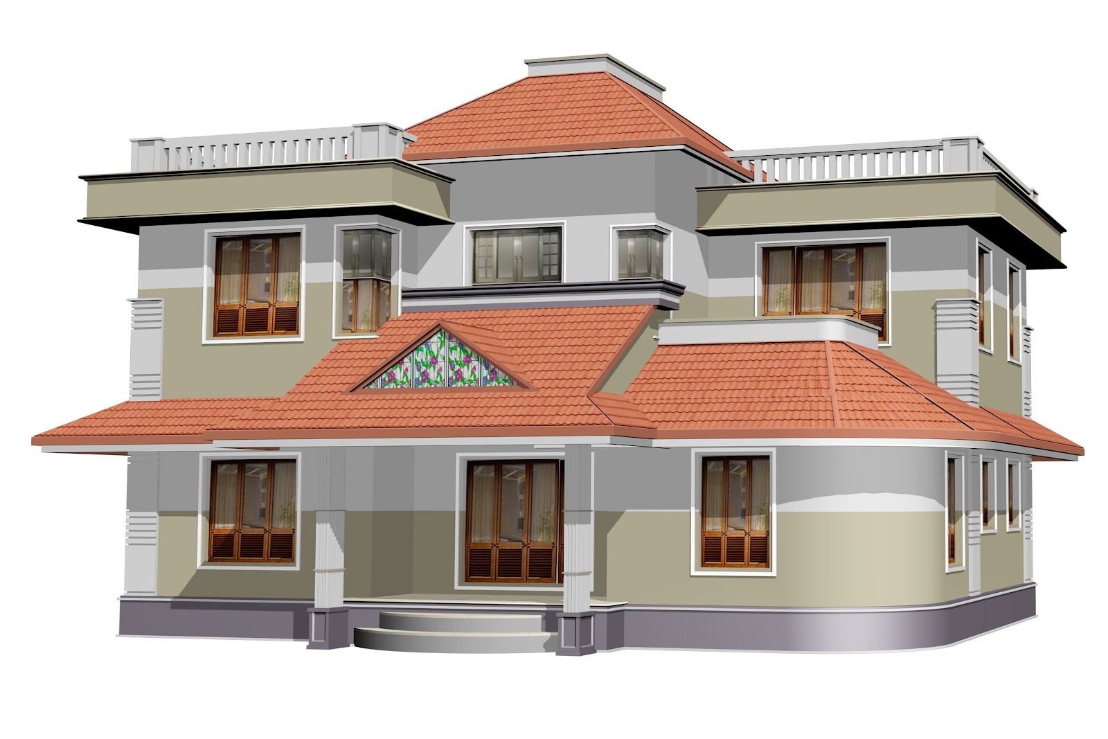 Ente veedu ente veedu new elevation for Kerala veedu design