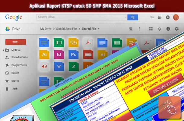 Aplikasi Raport KTSP untuk SD SMP SMA 2015 Microsoft Excel