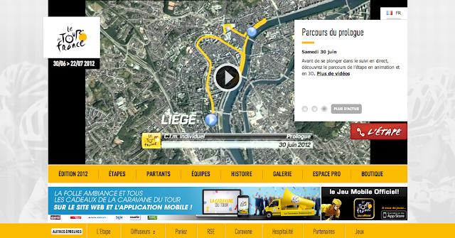 Site internet du Tour de France 2012