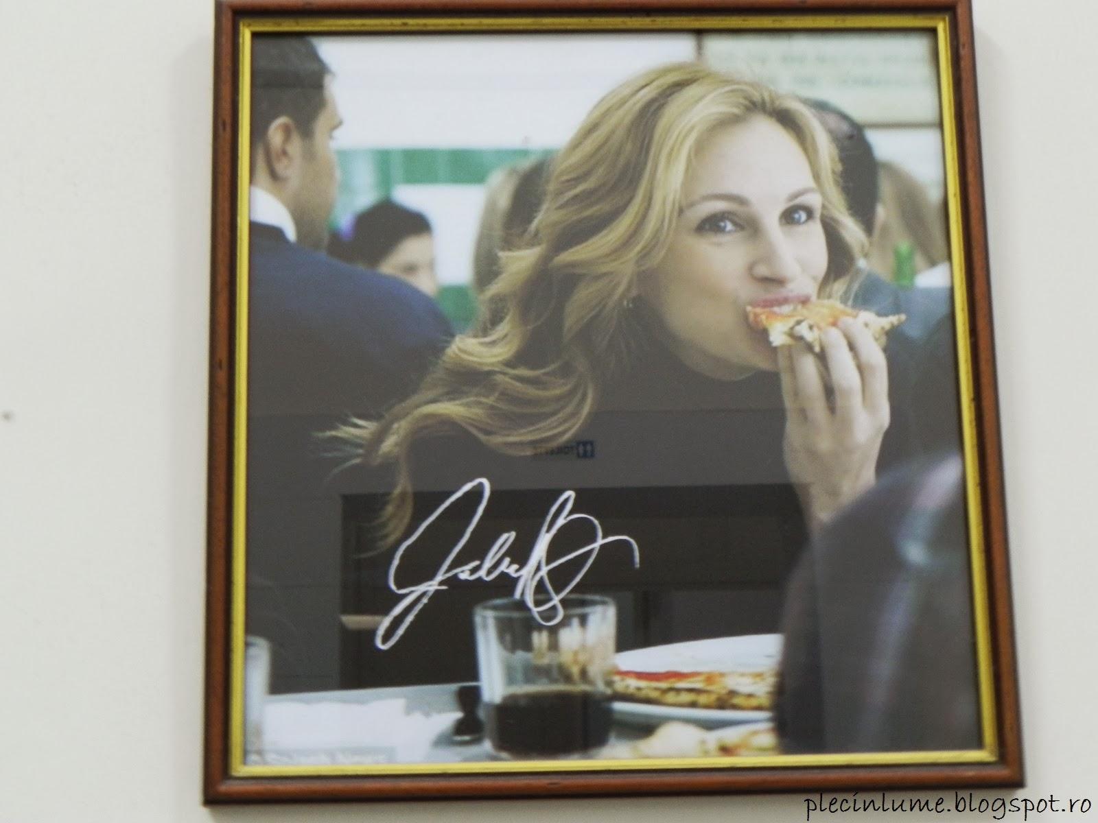 Julia Roberts in pizzeria Da Michele