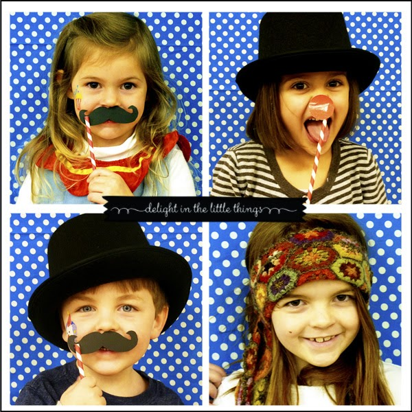 Easy DIY Photo Booth Carnival Party | delightinthelittlethings.com