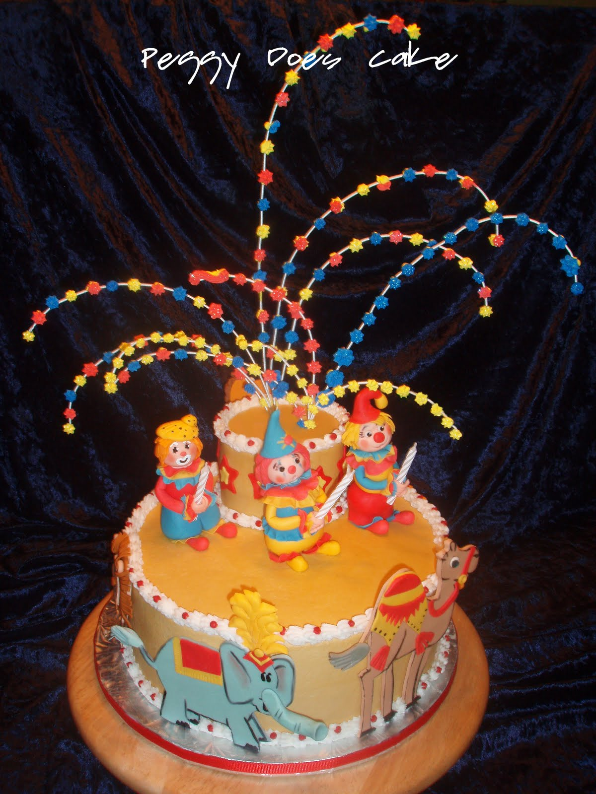 Peggy Does Cake Retts Circus Birthday Cake Click any photo to