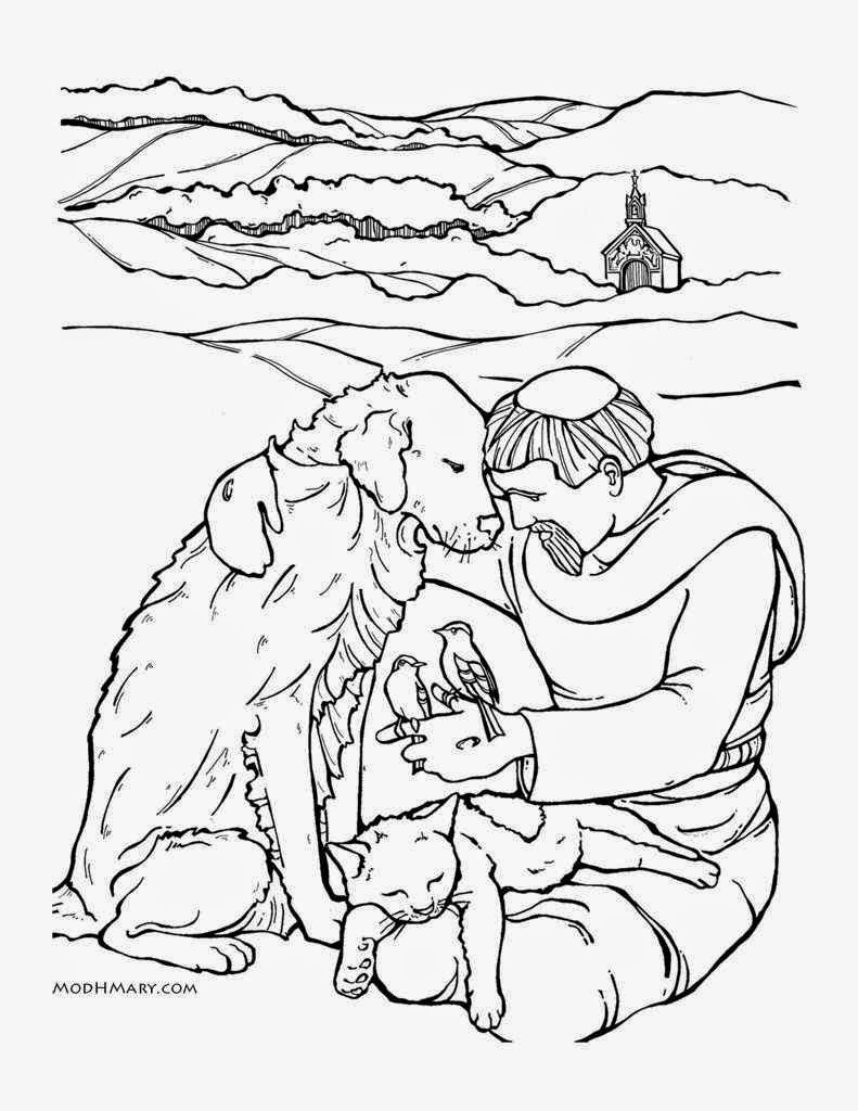 Uncategorized St Francis Coloring Page little catholic home school right click on image save as open and print