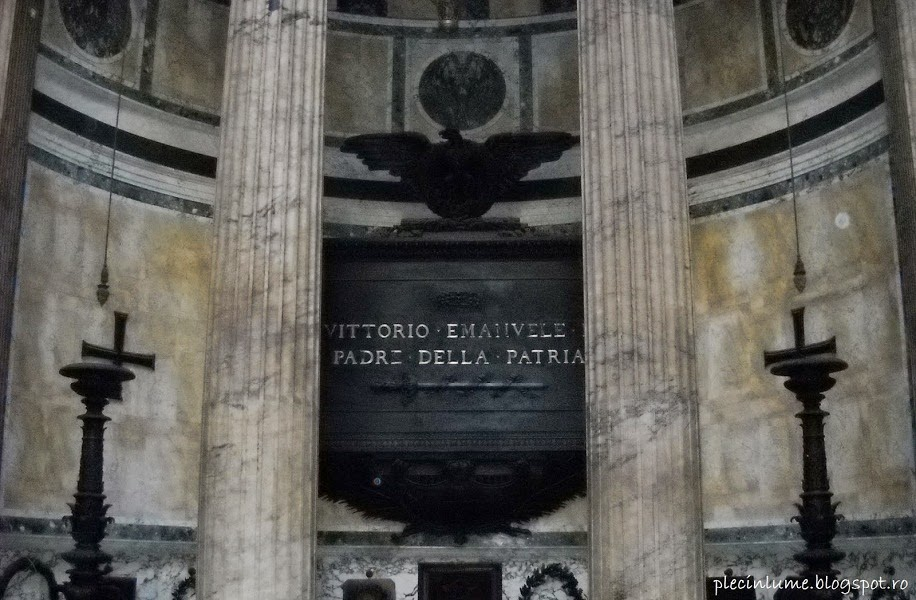 Mormantul lui Vittorio Emanuele II in Pantheon