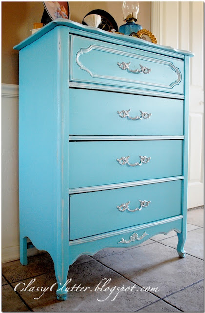 Here Are A Few Of My Favorite Spray Paint Projects. Enjoy! Tiffany Blue  Dresser