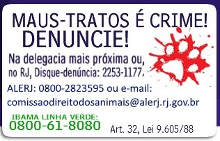 Maus-tratos é Crime!