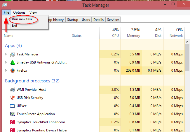 solution for black blank screen in windows 8.1