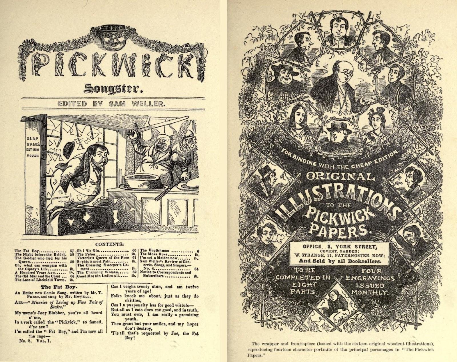 Выходит первая серия «Посмертных записок Пиквикского клуба»