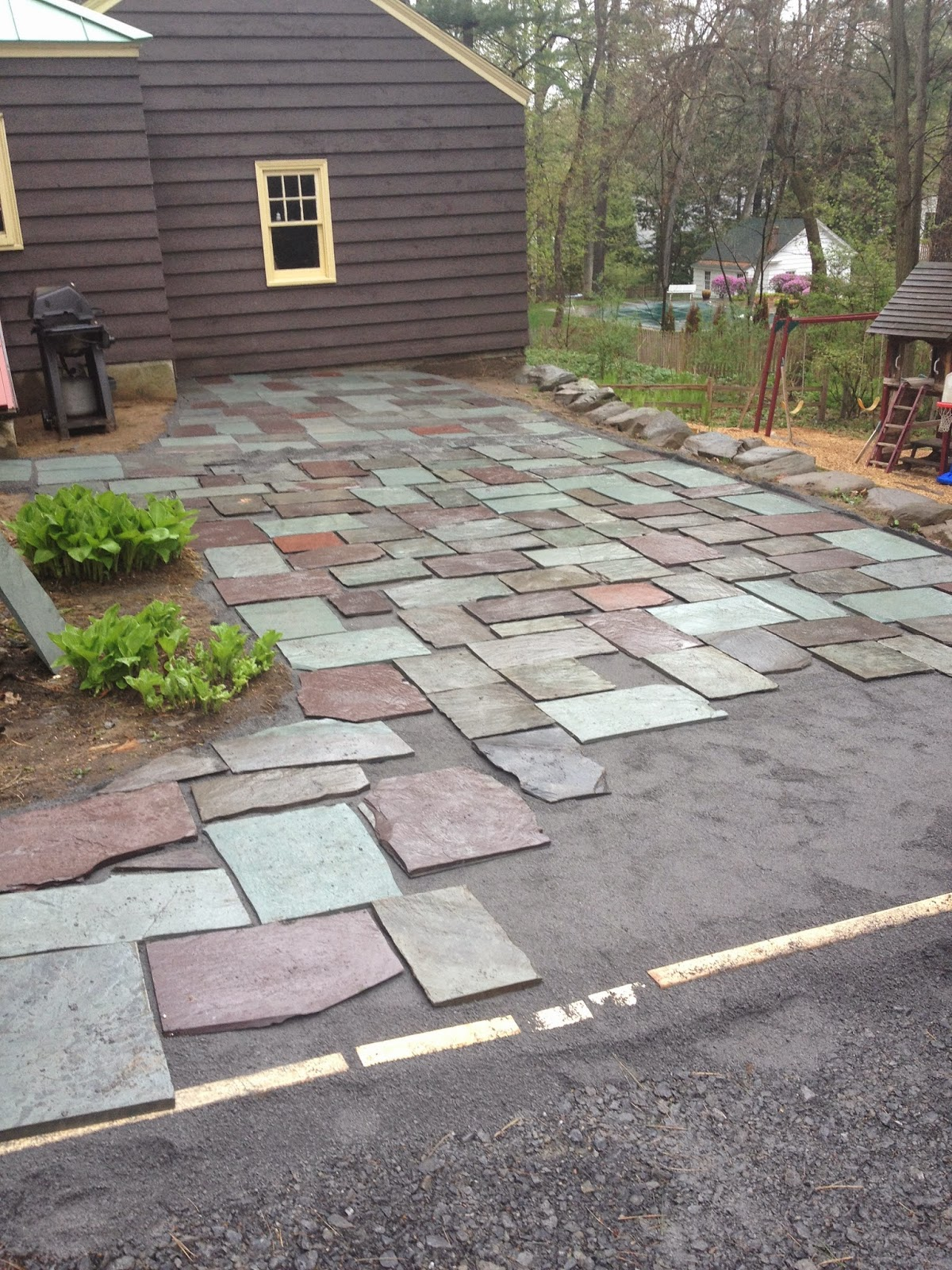 Making a slate patio | Building a Slate Patio