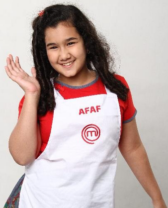 afaf  Juara Junior MasterChef Indonesia 2014