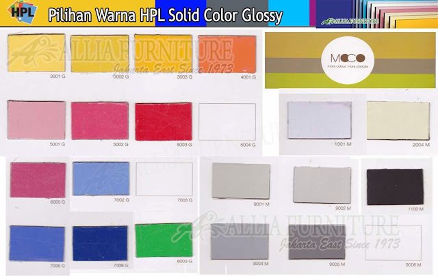 001.HPL solid color warna Moco Gloss
