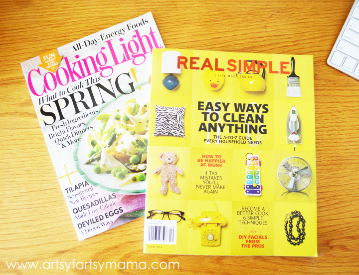 Purchase Cooking Light and Real Simple magazines at Target and get a $5 gift card!! #FreshandFab #PMedia